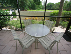 Balcony with table set