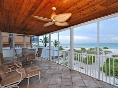 Furnished porch with beach view
