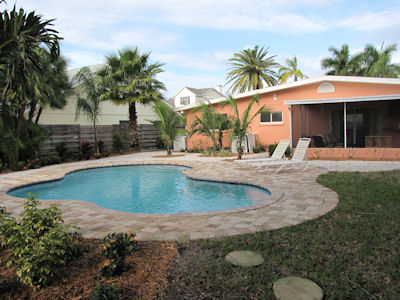 Canal front home for rent with private pool