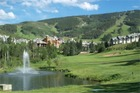This vacation home is adjacent to the Beaver Creek Golf Course