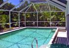 Captiva Island, Florida rental home with caged pool