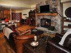Vail Living room with log fire
