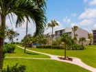 Landscaped grounds in Sanibel Florida condo complex