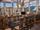 Formal dining area seats ten