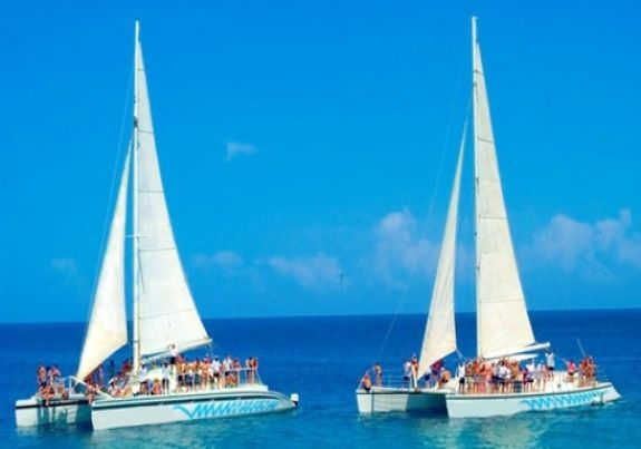 Sailing in the Dominican republic