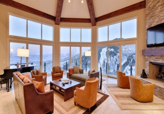 Aspen posh interior of rental