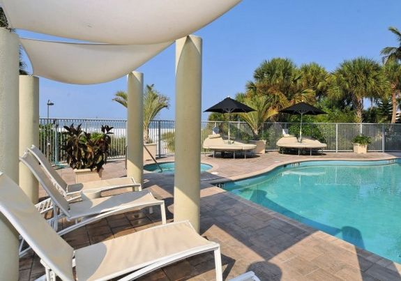 Siesta Key vacation condo on beach with pool