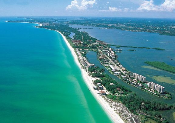 Siesta Key coast and beach