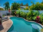 Holmes Beach, Florida rental home with tropical pool