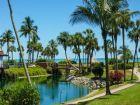 Wonderful tropical foliage & lake view from Sanibel Island vacation condo