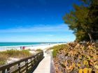 walk to beach on anna maria island